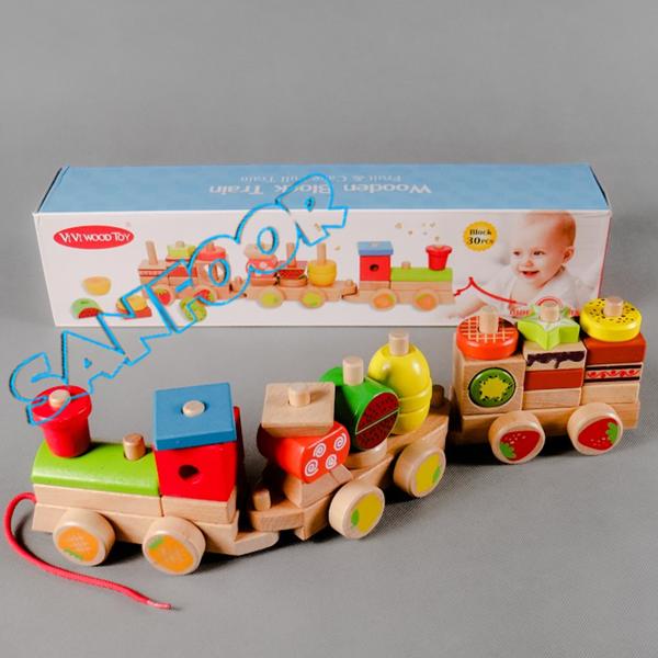 قطار السحب الخشبي